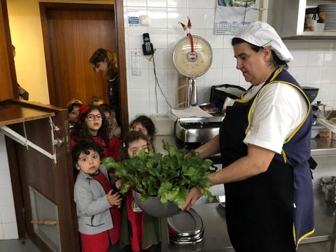 Entrega dos legumes